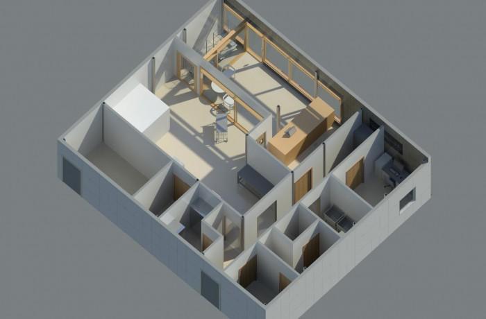 Manufaktoria – projekt budowlany pawilonu modułowego