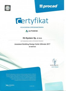 Certyfikat autodesk 20170001