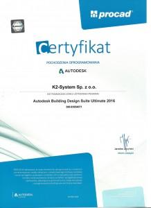 certyfikat autodesk 20160001